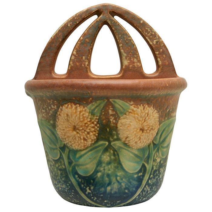 Roseville Pottery Co. Sunflower wall pocket 6