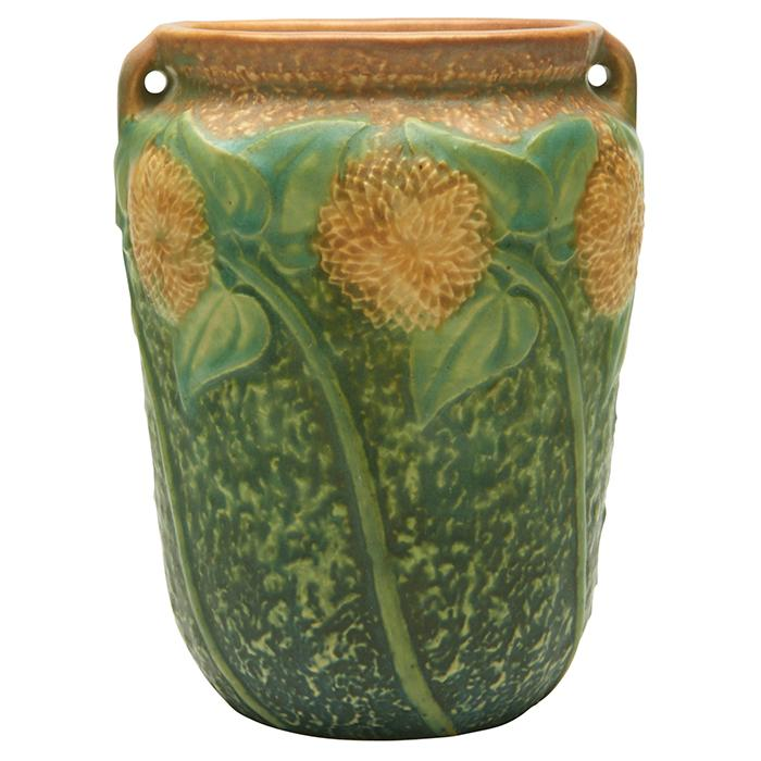 Roseville Pottery Co. Sunflower two-handled vase 5