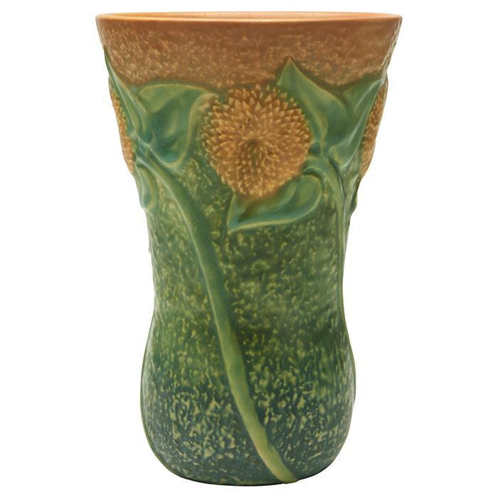 Roseville Pottery Co. Sunflower vase 5