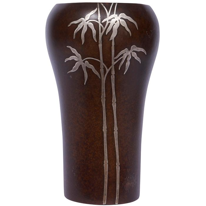 Heintz Art Metal Shop Bamboo vase, #3608C 5