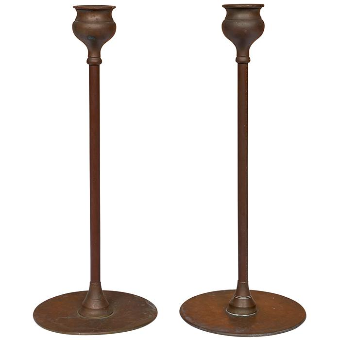 Robert Riddle Jarvie (1865-1941) Alpha candlesticks (variation), pair 4.5