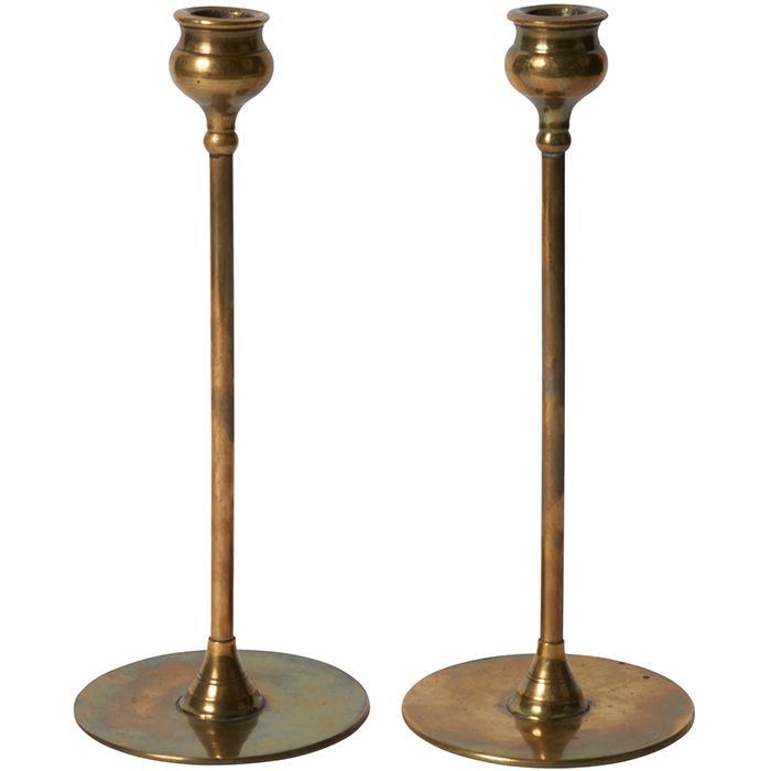 Robert Riddle Jarvie (1865-1941) Alpha candlesticks, pair 4.5
