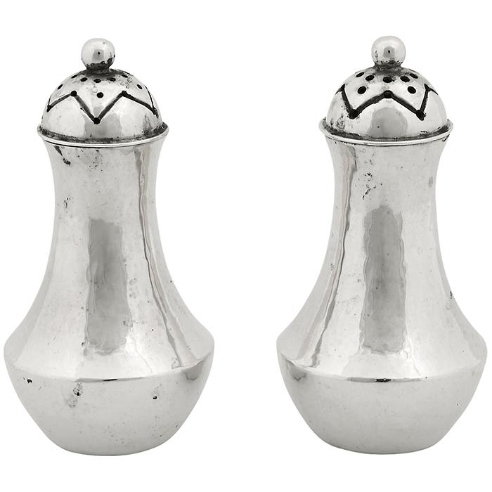 The Kalo Shop salt and pepper caster set, #13 and #14 1 3/4