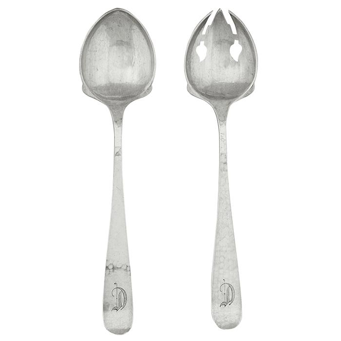 The Kalo Shop salad serving set: spoon and fork, #10 2