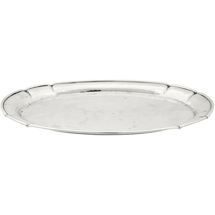 The Kalo Shop oval tray, #T159 9 7/8