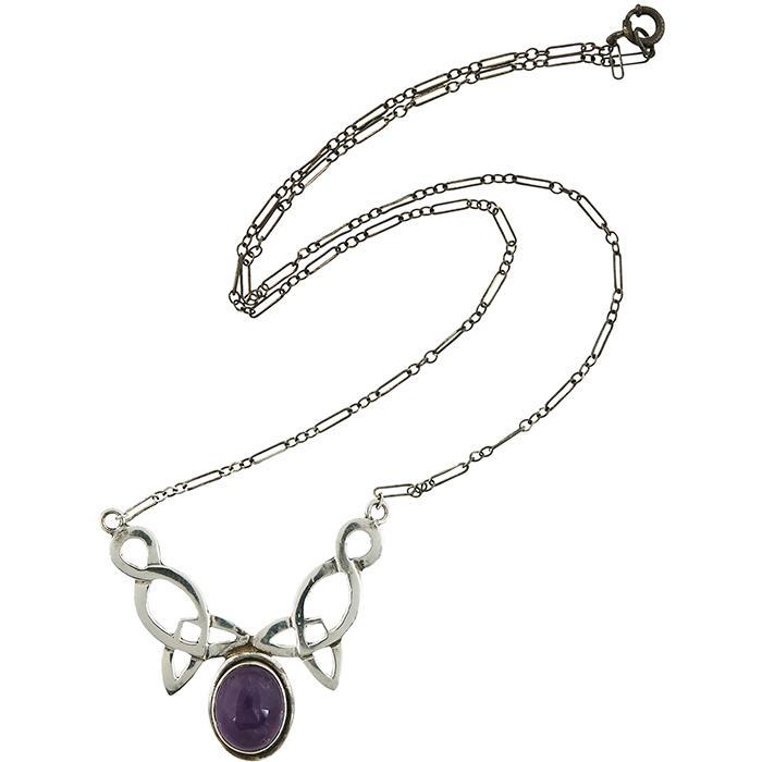 Arts & Crafts Style Celtic pendant necklace pendant: 1 5/8