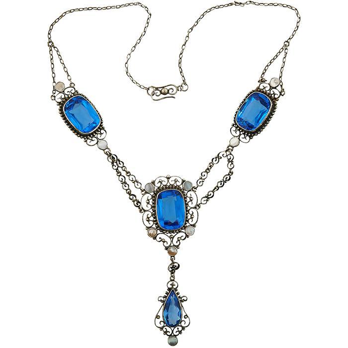 Arts & Crafts filigree necklace 16 1/4