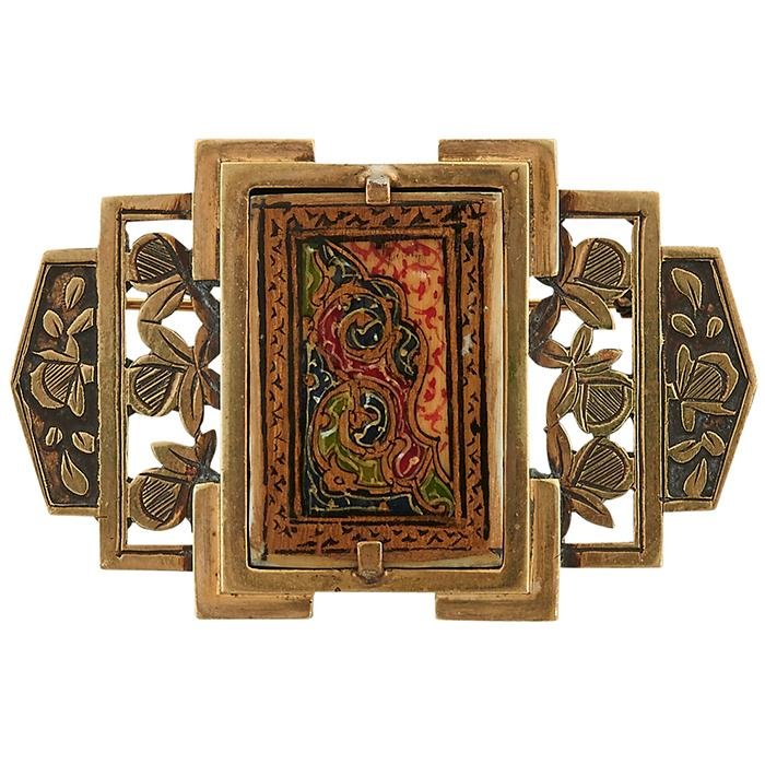 French Art Deco brooch 2 1/8