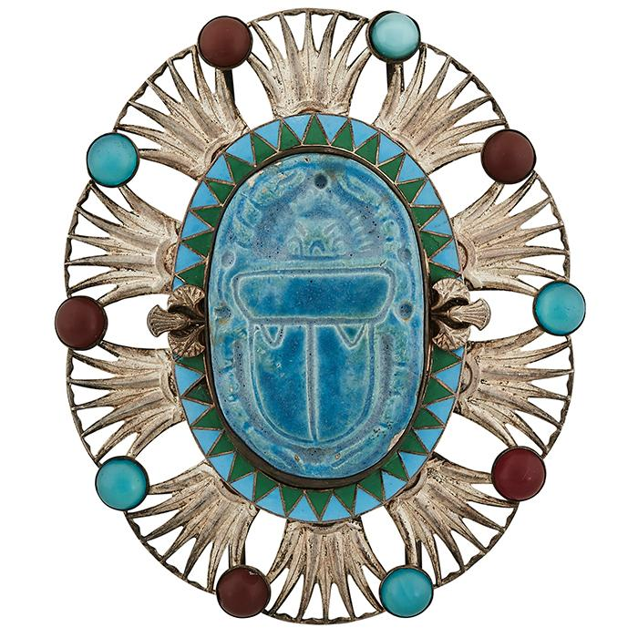 Egyptian Revival Scarab oversized buckle 3 1/2