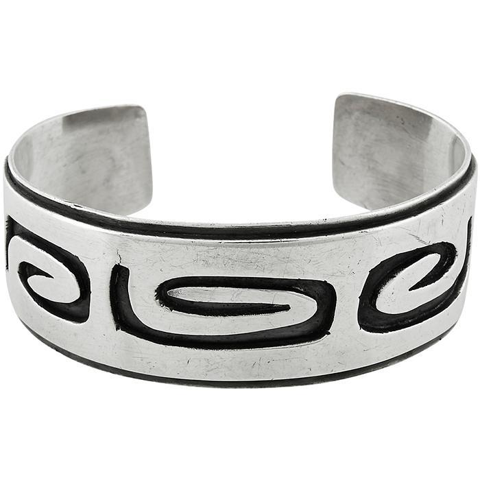Fridl Blumenthal (1905-1998) Modernist cuff bracelet 2 3/8