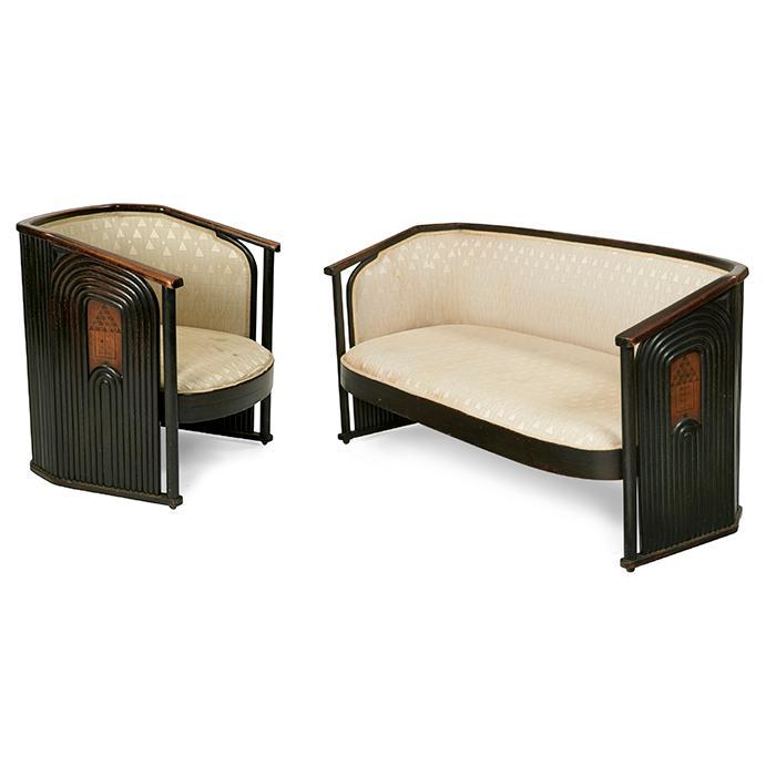 Austrian settee and chair chair: 30