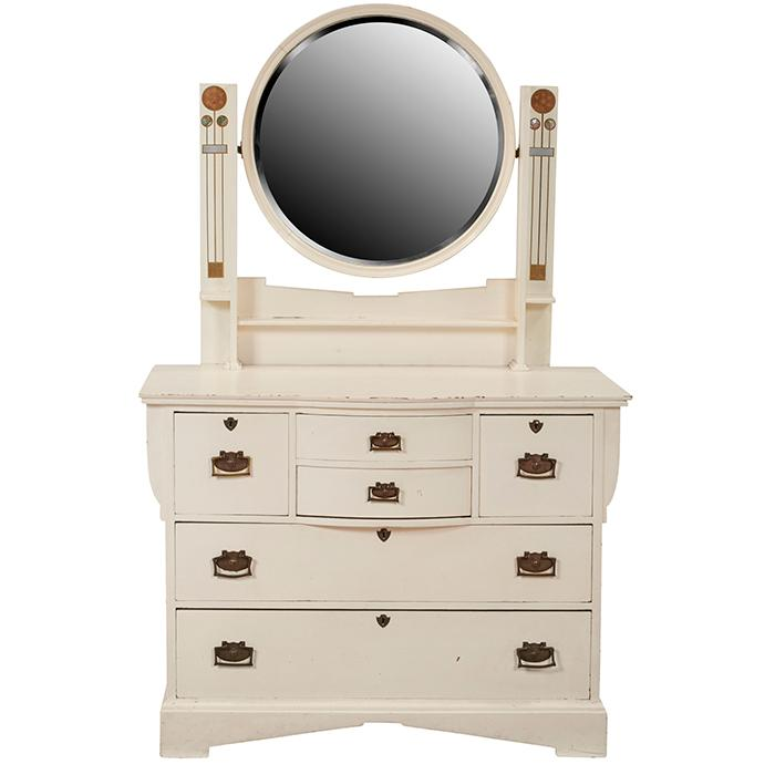 European Arts & Crafts dresser with mirror 42