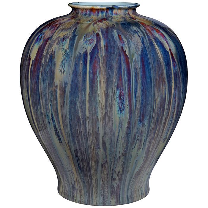 Villeroy & Boch Flambe Oxblood or Sang de Boeuf style vase 9.5