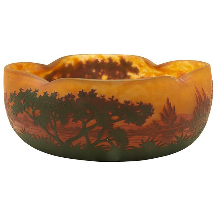 Daum Landscape bowl 8