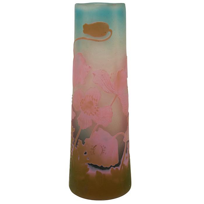 Galle Poppy vase 2.75