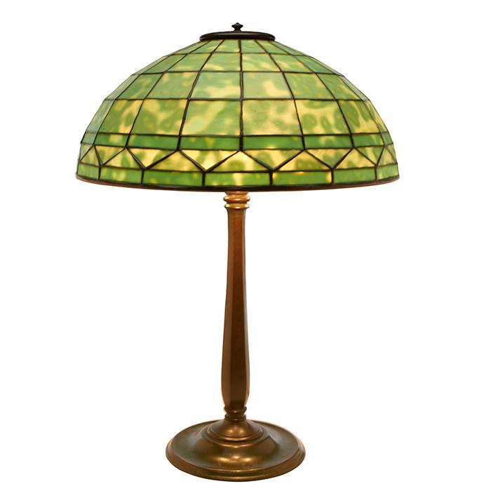Tiffany Studios Colonial table lamp: shade, #1900 on base, #534 16