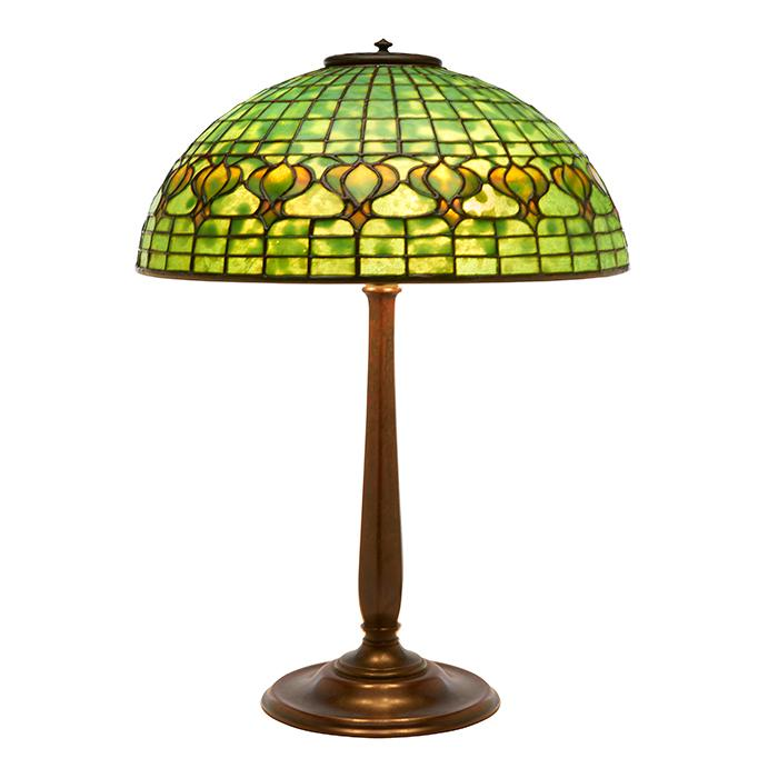 Tiffany Studios Pomegranate table lamp: shade, #145 on base, #534 16