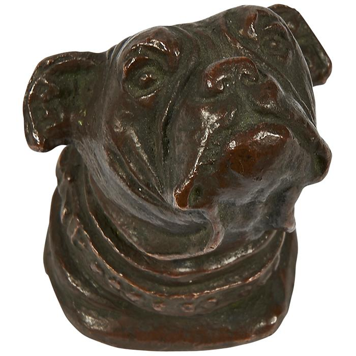 Tiffany Studios Bulldog paperweight, #888 1.5