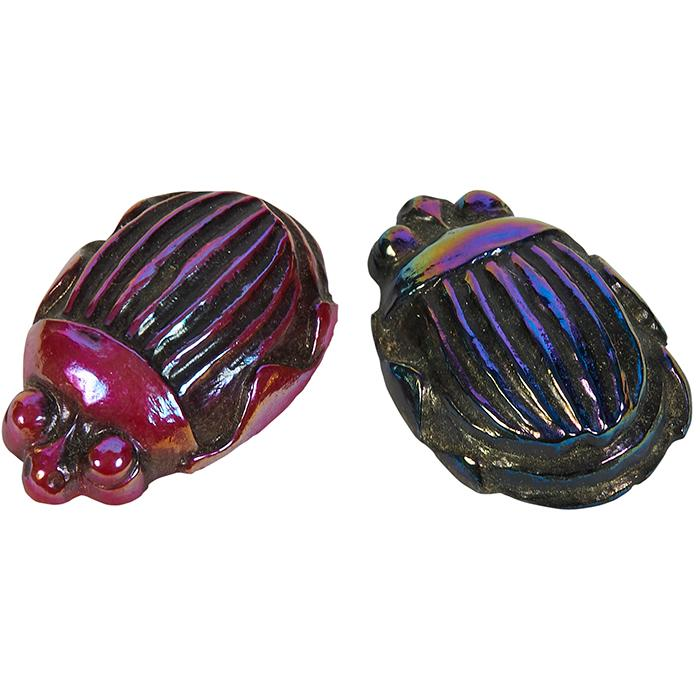 Louis Comfort Tiffany (1848-1933) Scarabs, two 1 1/2
