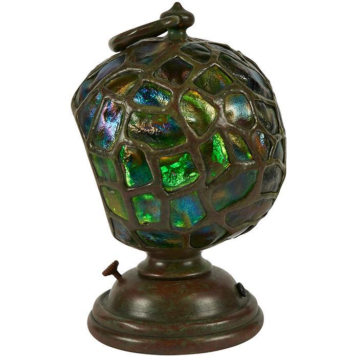 Tiffany Studios Turtleback Diver''s Lantern table lamp, #4079 7.5