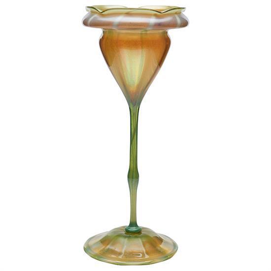 Louis Comfort Tiffany (1848-1933) Floriform vase, #R9907 4.75