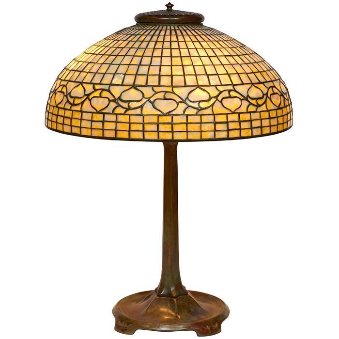 Tiffany Studios Acorn table lamp: shade, #149 on base, #531 20.5