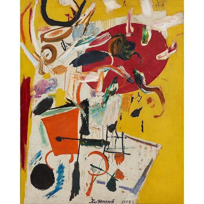 Taro Yamamoto, (American, 1919-1994), Untitled, 1954, oil on canvas, 50