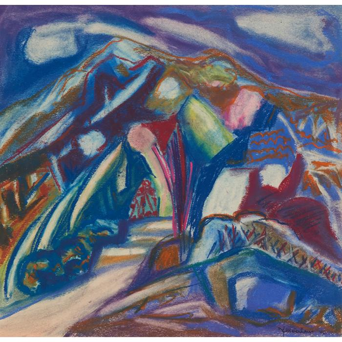 Joseph Meierhans, (American, 1890-1980), Untitled, 1946, pastel on paper, 13.5