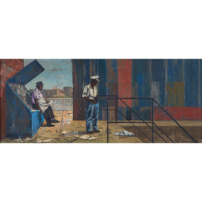 Thomas Yerxa, (American, b. 1923), Untitled, 1955, oil on canvas, 12