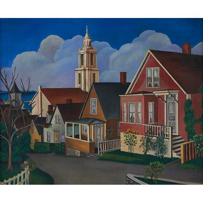Adelaide Morris, (American, 1881-1974), Provincetown, 1931, oil on canvas, 20