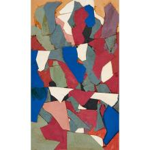 Robert Goodnough, (American, 1917-2010), Untitled, 1965, collage, 11.25