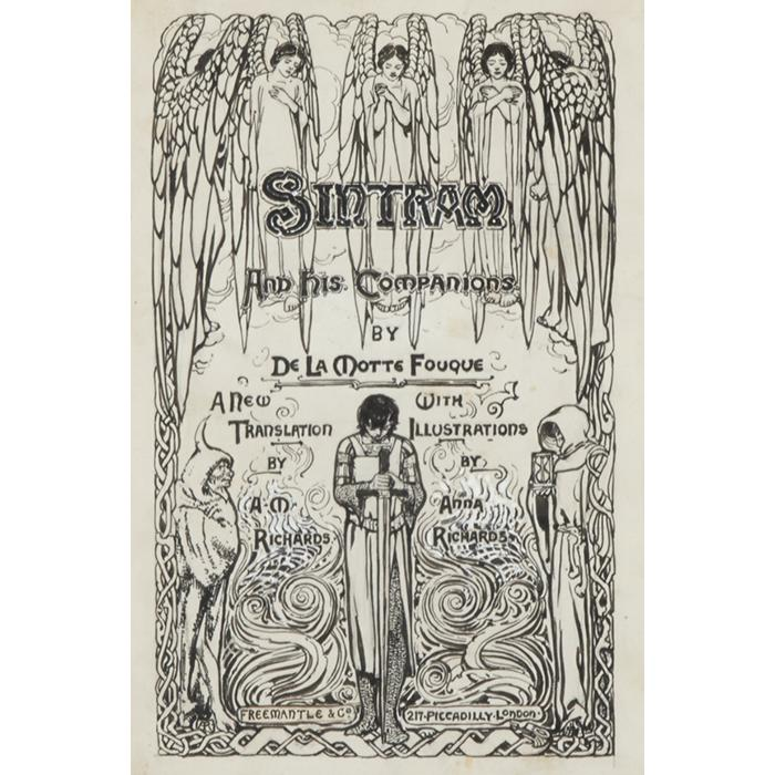 Anna Richards Brewster, (American, 1870-1952), Sintram and His Companions, pen and ink, 9.5