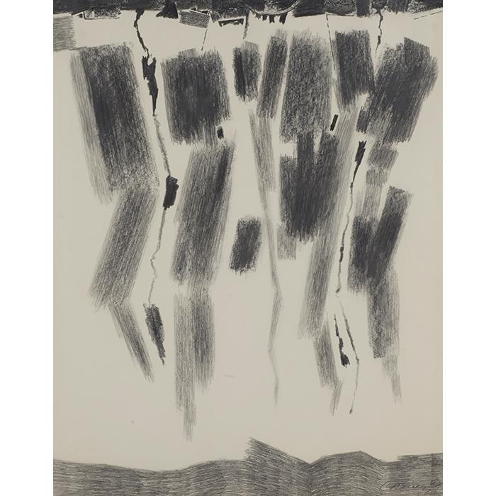 Eduardo Chavez, (American, 1917-1995), Untitled, 1983, pencil on paper, 28.5