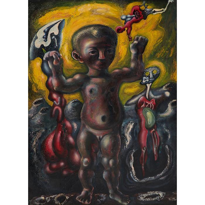 Ezio Martinelli, (American/Italian, 1913-1980), Untitled, oil on masonite, 45.5