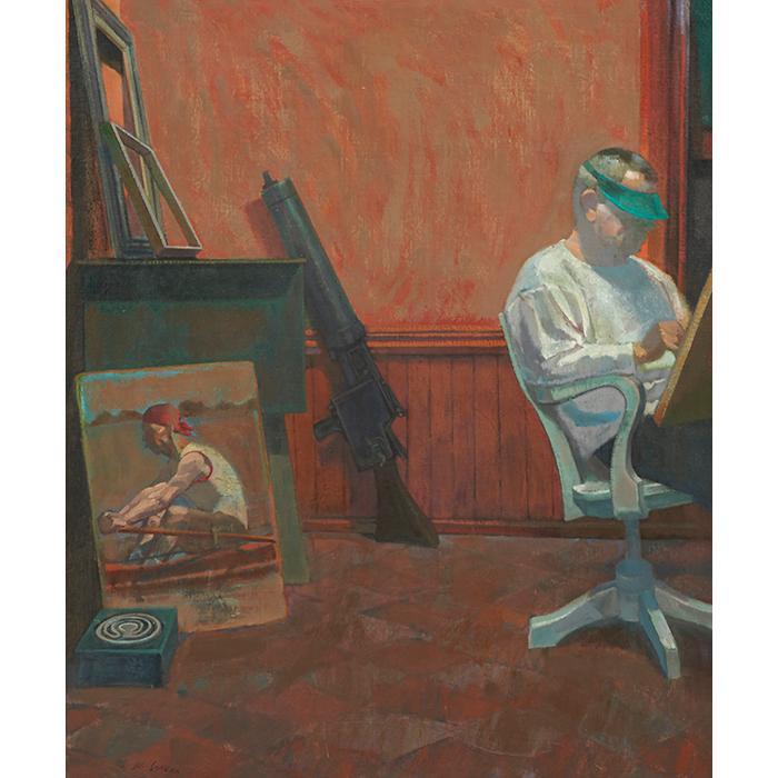 Joe Lasker, (American, b. 1919), Apparition, oil on canvas on board, 35