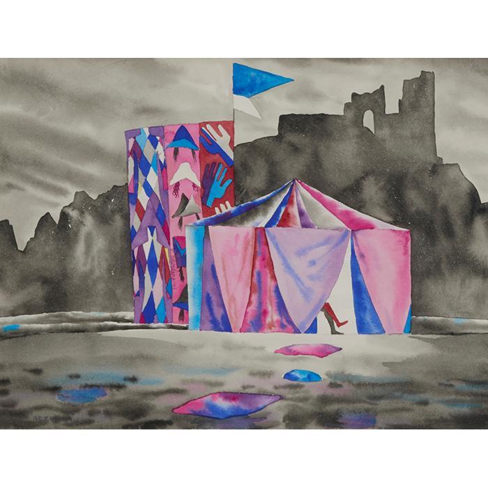 Franz Walter Bergmann, (American/Austrian, 1898-1977), Fortune Teller, watercolor, 14