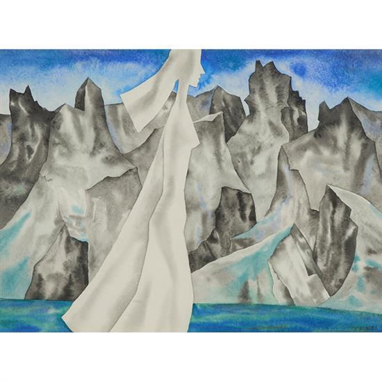 Franz Walter Bergmann, (American/Austrian, 1898-1977), Tenerife, watercolor, 14