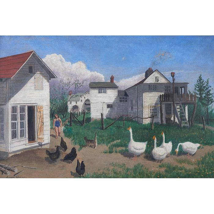 Lucile Blanch, (American, 1895-1981), The Wilson Farm, oil on board, 15