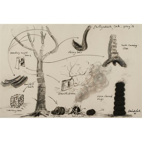 David Nash, (British, b. 1945), Untitled, 1986, charcoal, 31