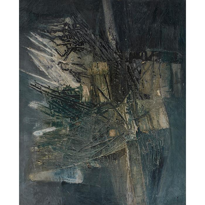 Giuseppe Gregorio, (Italian, 1920-2007), Untitled, oil on canvas, 47