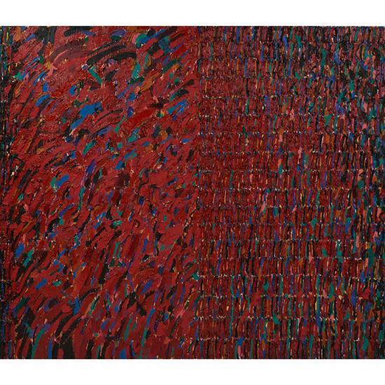 Sarah Krepp, (American, 20th century), Untitled, acrylic on canvas, 84