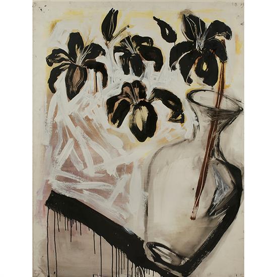 Artist Unknown , (20th/21st century), Still Life, mixed media on paper, 49