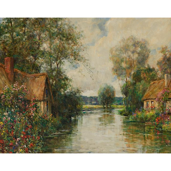 Louis Aston Knight, (American, 1873-1949), Normandy Landscape, oil on canvas, 25.5