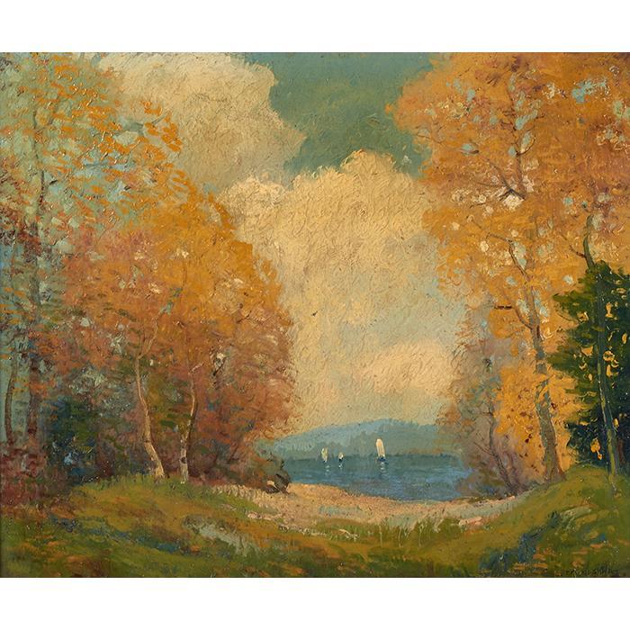 Ernest Fredericks, (American, 1877-1959), Landscape, oil on canvas, 25
