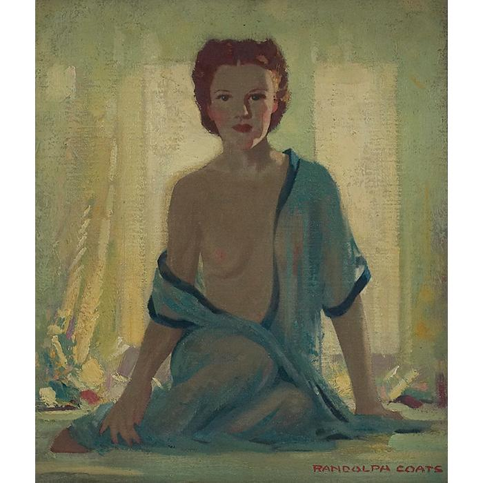 Randolph Lasalle Coats, (American, 1891-1957), Polly, oil on artist board, 14