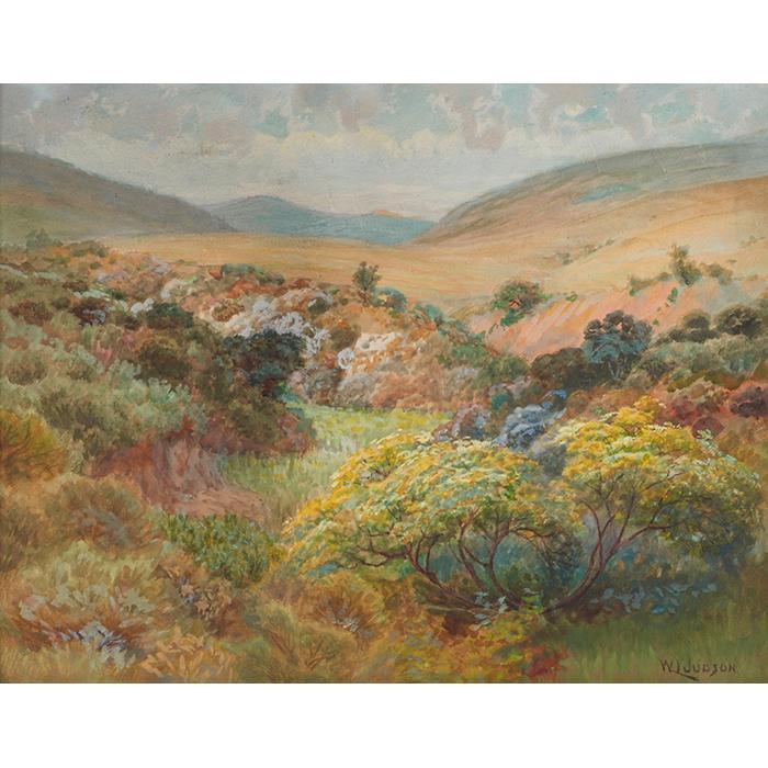 William Lees Judson, (American, 1842-1928), California Landscape, watercolor, 17