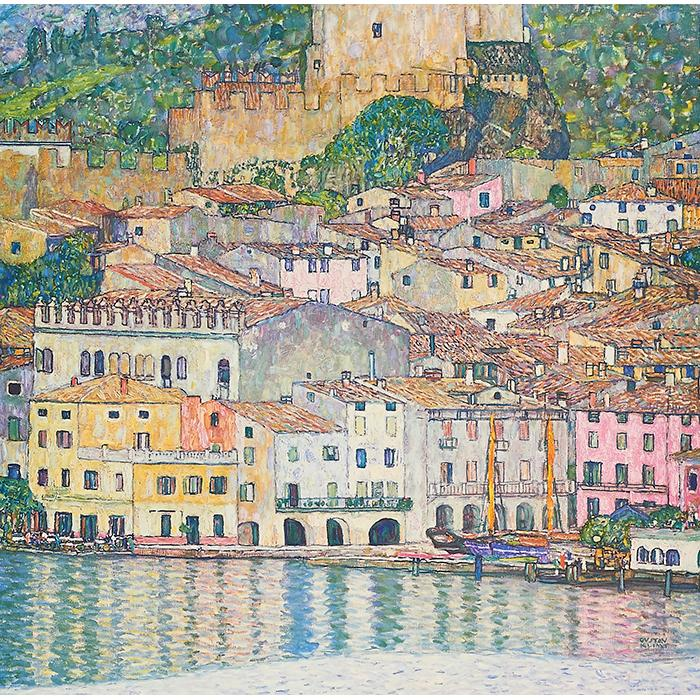 Gustav Klimt, (Austrian, 1862-1918), Malcesine on Lake Garda, 1931 (from An Aftermath), collotype, 12