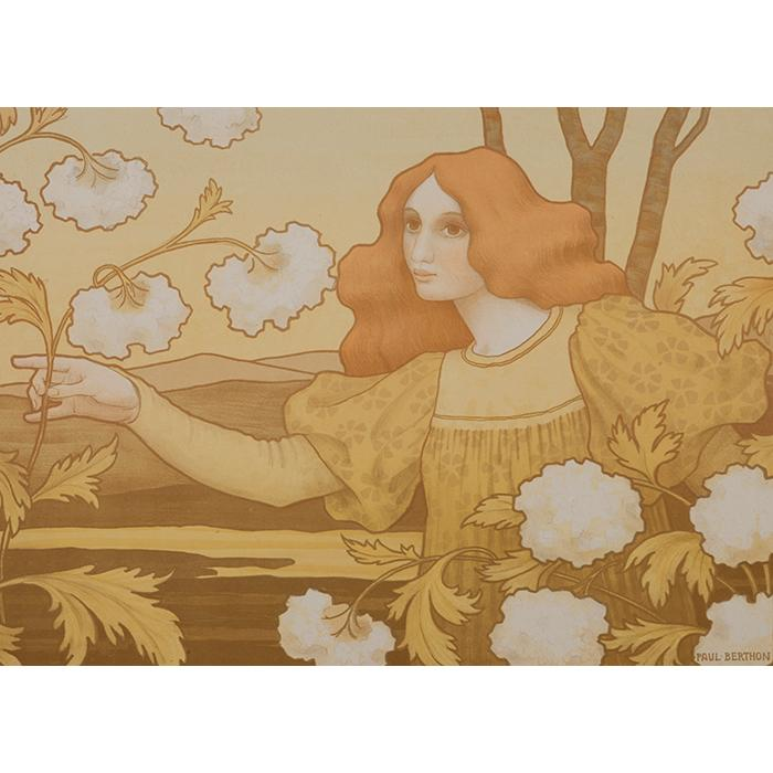 Paul Berthon, (French, 1872-1909), Les Boules de Neige, 1900, color lithograph, 15.25