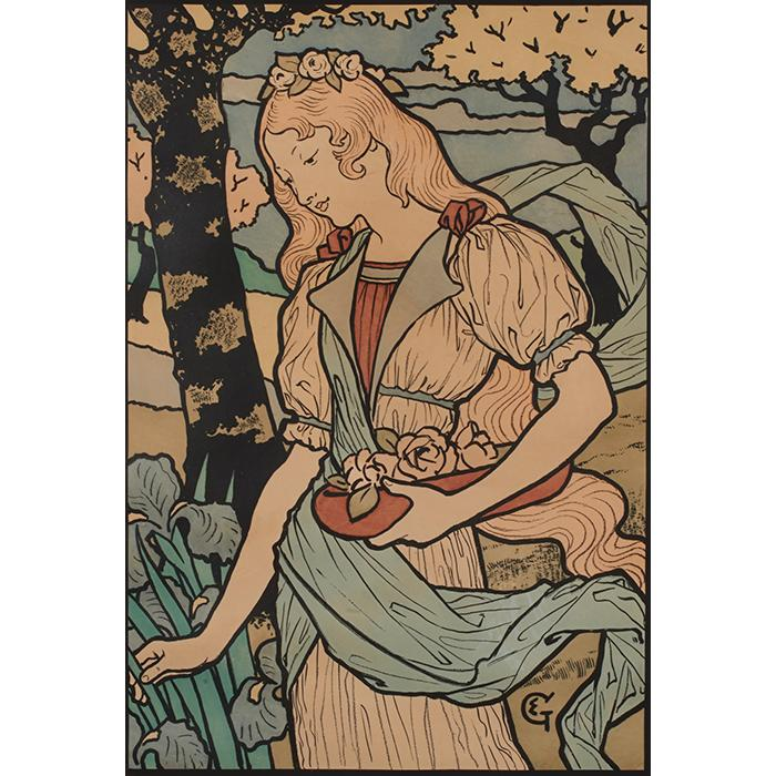 Eugene Grasset, (French, 1841-1917), Grafton Gallery, London-Exposition d''Art Decoratif, 1893, color lithographic poster, 26.5