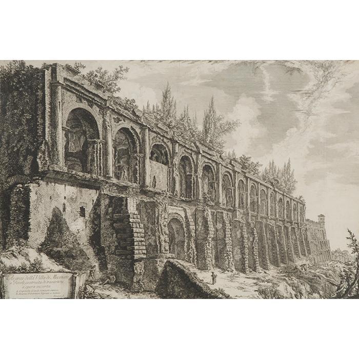 Giovanni Battista Piranesi, (Italian, 1720-1778), Avanzi della Villa di Mecante a Tivoli, 1763, etching on laid paper, 18